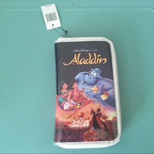 """Disney Aladdin """"VHS CASE"""" Clutch Wallet-NWT"""